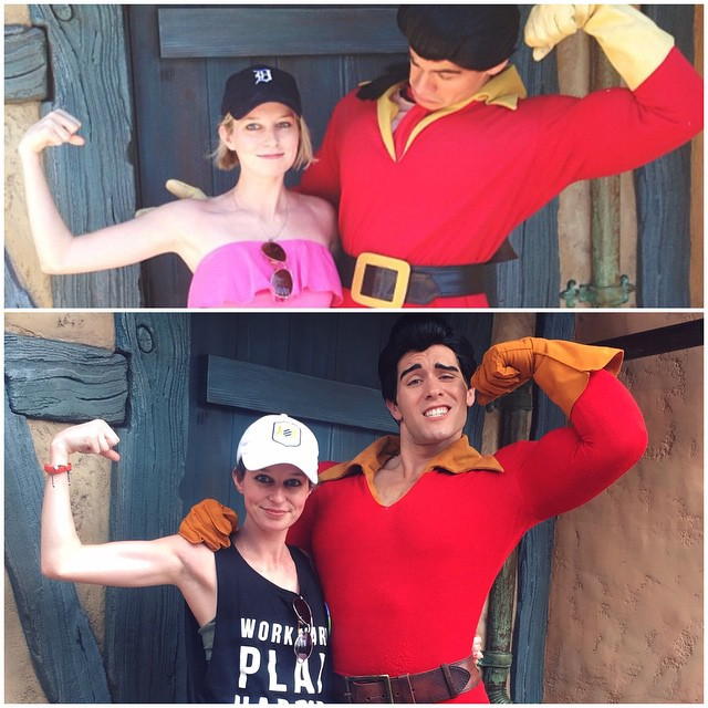 2013 vs 2015. Thanks Pure Barre for making me a slightly more even match for Gaston.